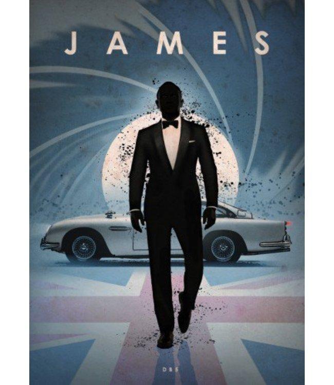 Displate James Bond 10x15cm