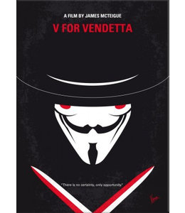 Displate V for Vendetta 10x15cm