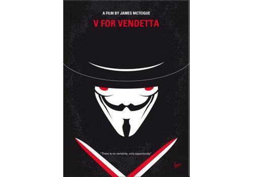 Displate V for Vendetta 10x15cm