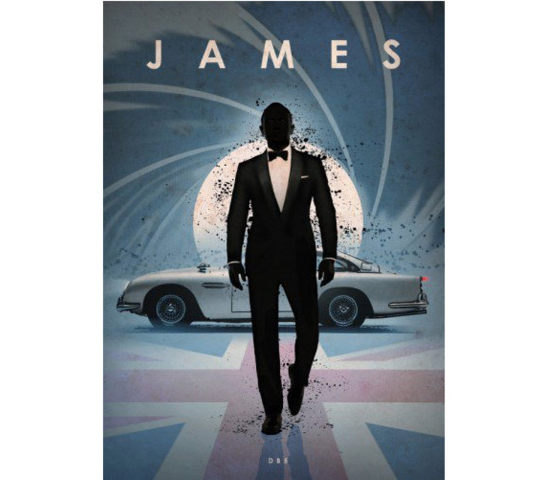 James Bond 32x45cm
