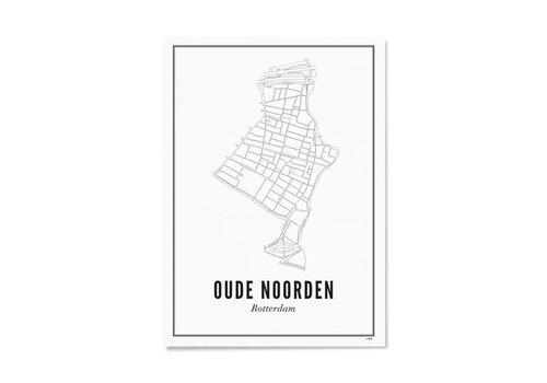 Wijck Poster Oude Noorden 50x70