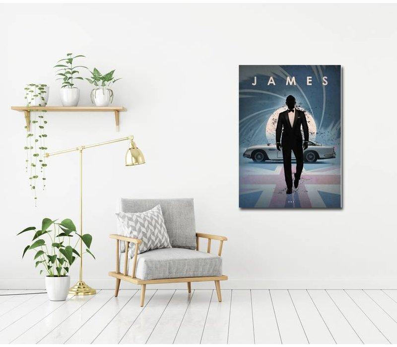 James Bond 48x67cm