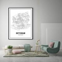 A4 Poster Rotterdam stad