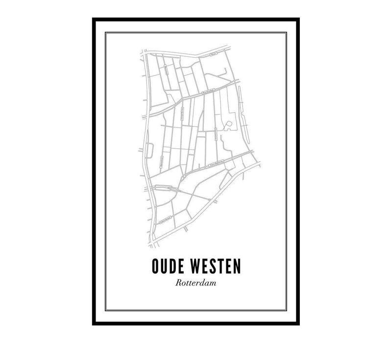 Poster Oude Westen 50x70