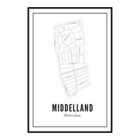 Poster Middelland 50x70
