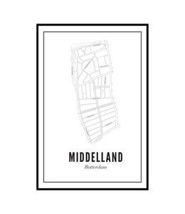 Wijck Poster Middelland 50x70