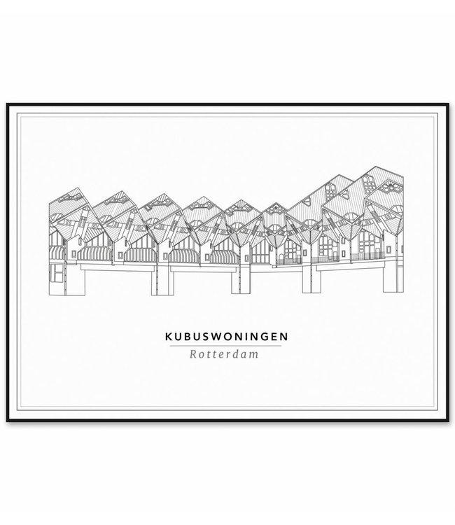 Cityprints Kubuswoningen 10x15cm