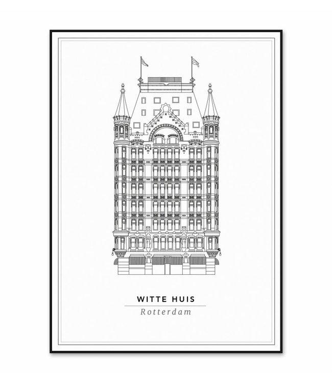 Cityprints Het Witte huis 50x70cm