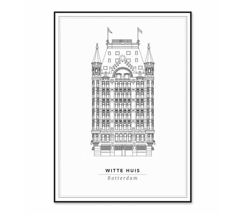 Het Witte huis 21x29,7cm
