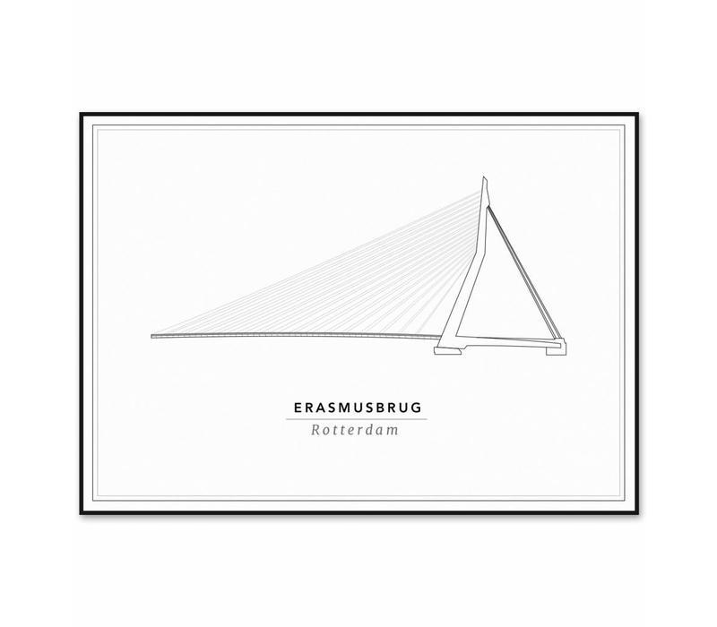 Erasmusbrug 30x40cm