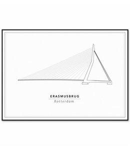 Cityprints Erasmusbrug 21x29,7cm