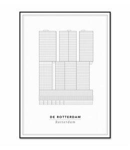 Cityprints De Rotterdam 30x40cm