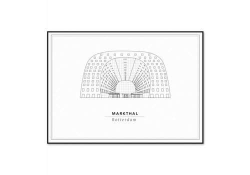 Cityprints De Markthal 21x29,7cm