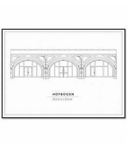 Cityprints De Hofbogen 50x70cm