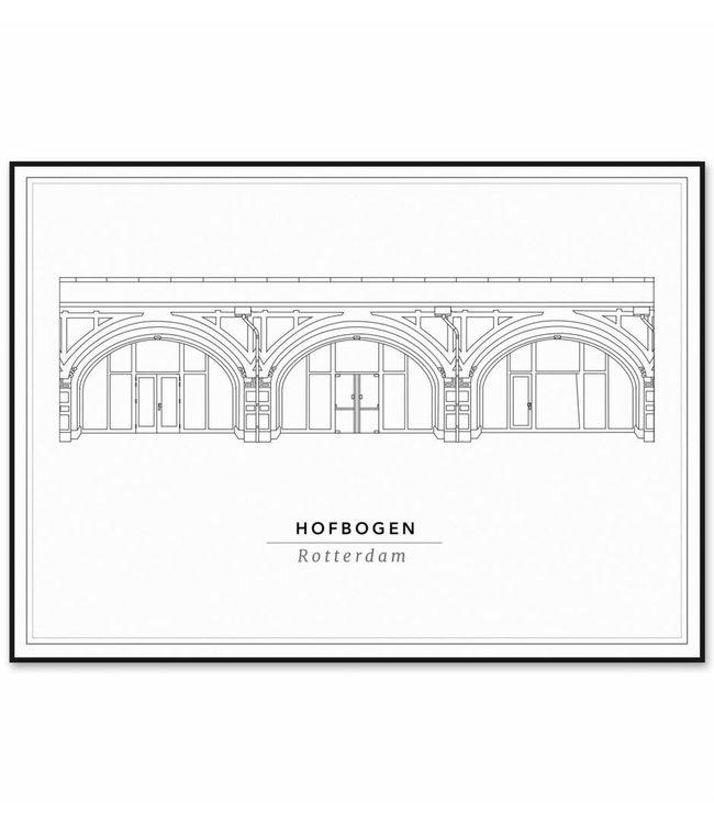 Cityprints De hofbogen 21x29,7cm