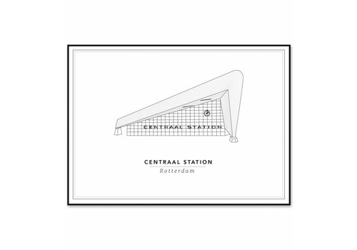 Cityprints Centraal station 21x29,7cm