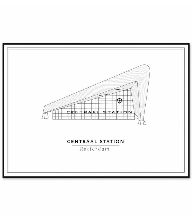 Cityprints Centraal station 21x29,7cm