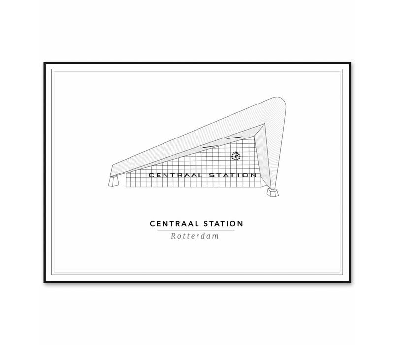 Centraal station 21x29,7cm