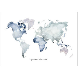 Leo La Douce Artprint A4 - Go travel the world