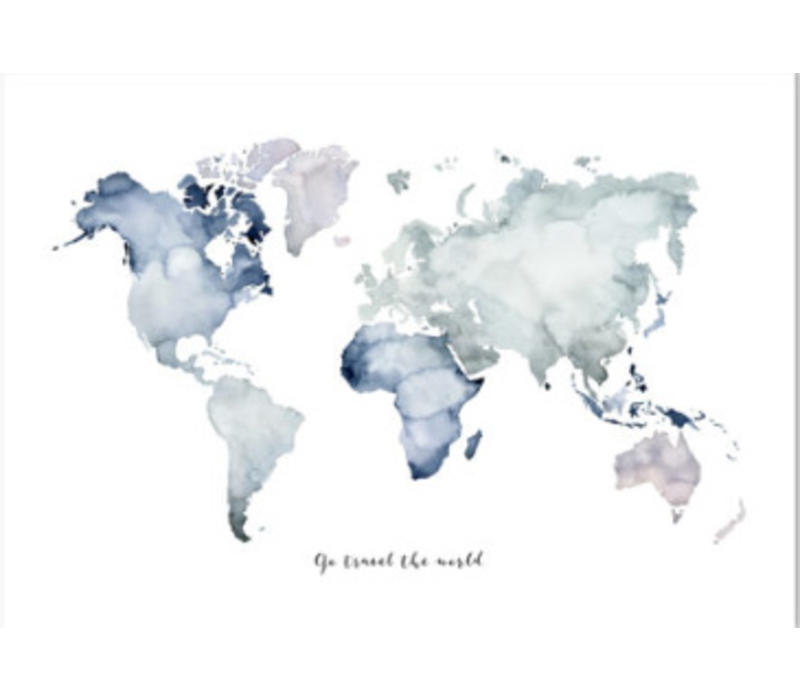Artprint A4 - Go travel the world