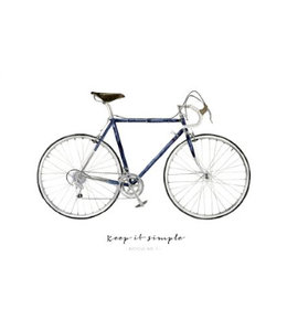 Leo La Douce Artprint A3 - Keep it Simple Bicycle No.1