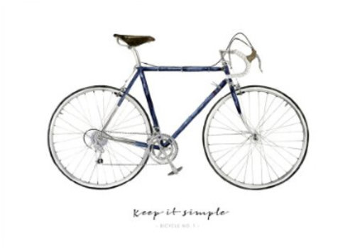 Leo La Douce Artprint A3 - Keep it Simple Bicycle No.1