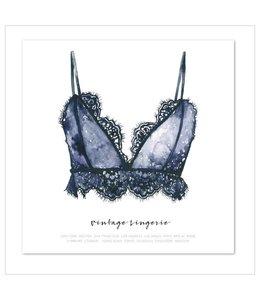 Leo La Douce Artprint 30x30 - Vintage Lingerie