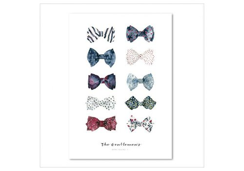 Leo La Douce Artprint A3 - The Gentlemen's Bow Ties No.1