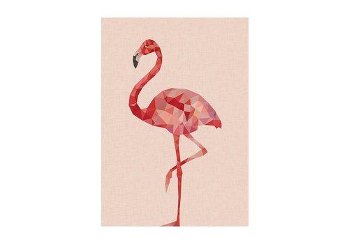 East End Prints Flamingo A3