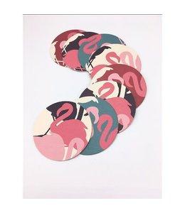 Flamingo coaster abstract