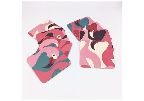 Flamingo coaster art
