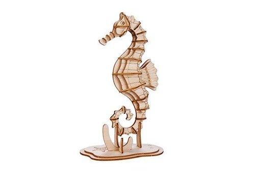 Kikkerland 3D wooden seahorse