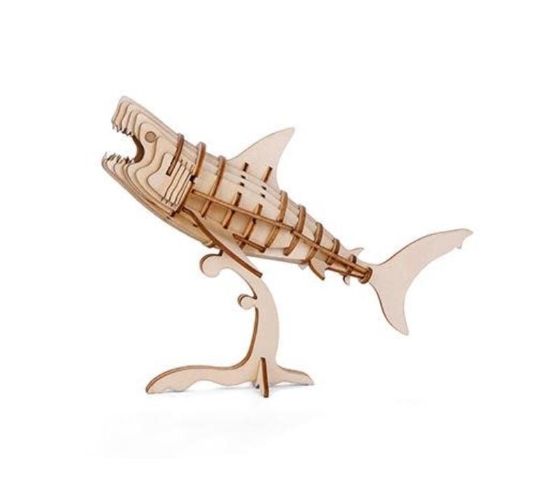 3D houten puzzel van een  haai