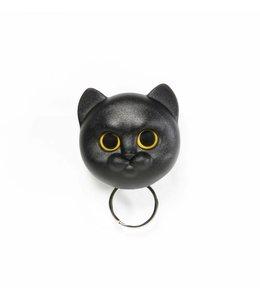 Neko Cat Keyholder - black
