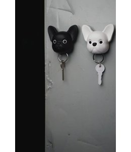Frenchy Dog Keyholder - black