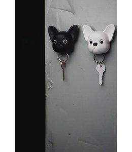 Frenchy Dog Keyholder - white