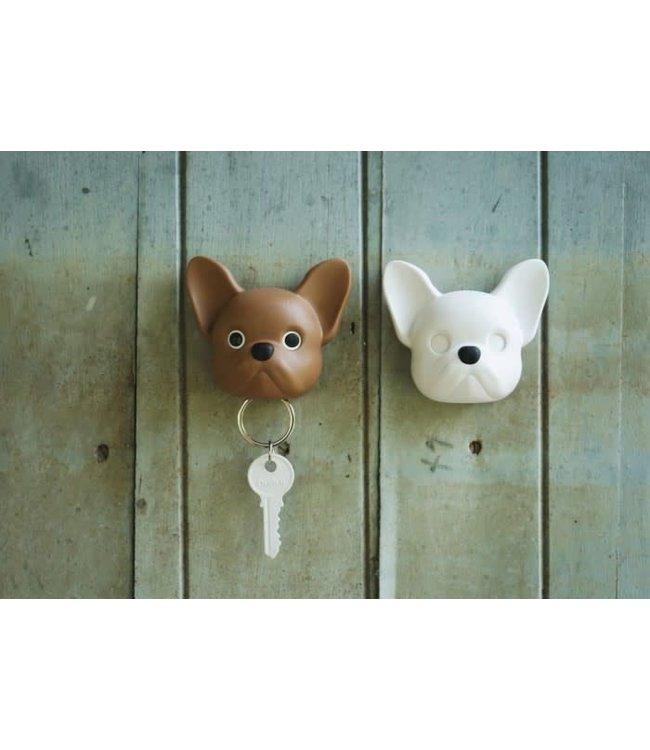Frenchy Dog  Sleutelhouder- bruin