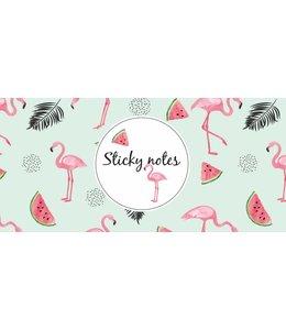 De Lantaarn Sticky notes box Flamingo