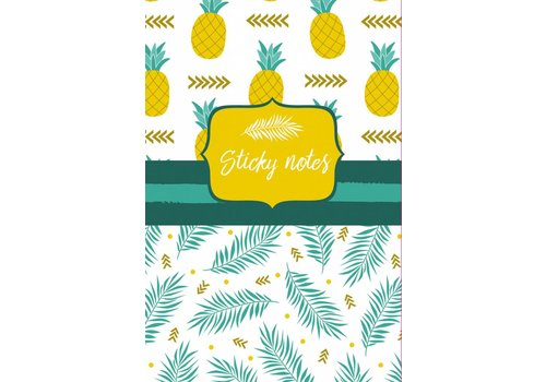 De Lantaarn Sticky notes pack Ananas