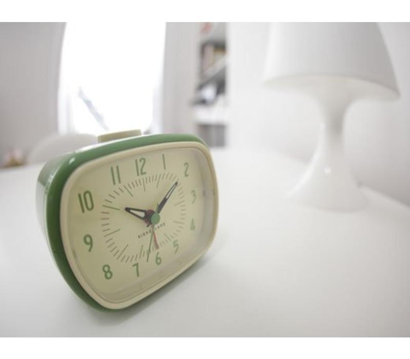 Retro wekker groen