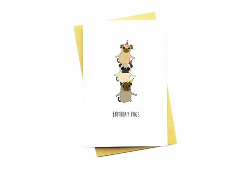 Nocturnal Paper BIRTHDAY PUGS
