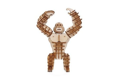 Kikkerland 3D wooden gorilla