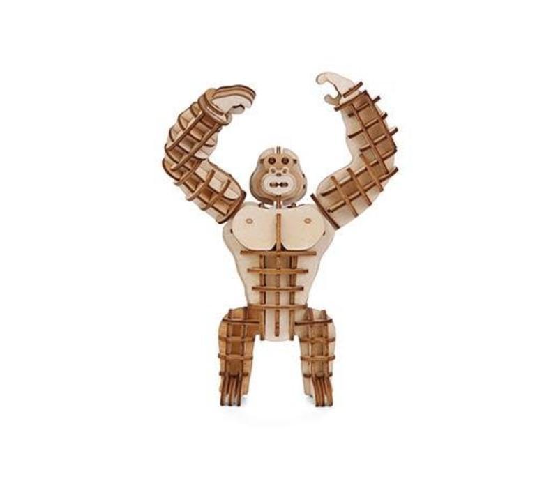 3D houten puzzel van een gorilla