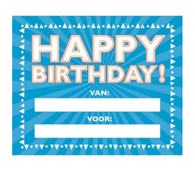 Happy birthday cadeauboekje