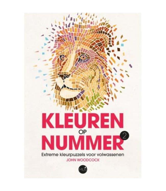 BBNC Kleuren op nummer- leeuw