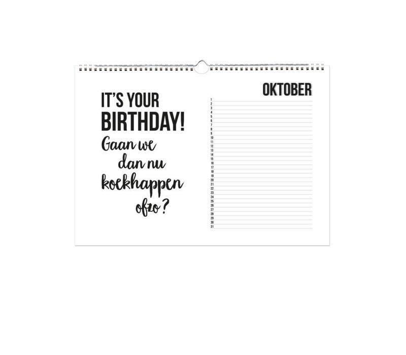 A4 Verjaardagskalender