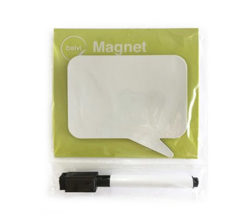 Magneet voor op de koelkast vierkant