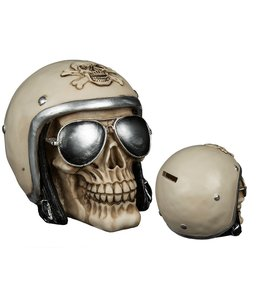 Skull met helm en zonnebril Spaarpot