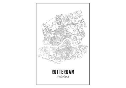 Wijck Poster Rotterdam stad 40x50cm
