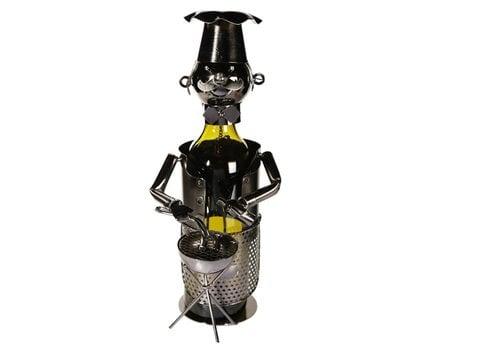 Metalen wijnfles houder BBQ Chef